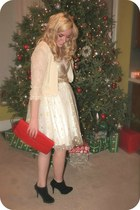promgirl dress - rewind vintage bag - Maurices heels