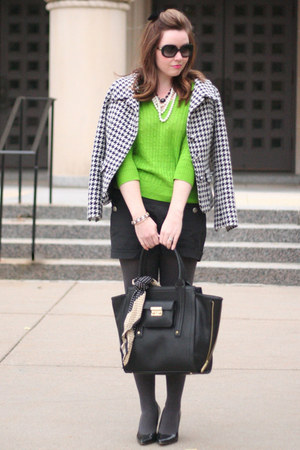 JCrew sweater - The Limited tights - 31 Phillip Lim bag - kate spade sunglasses