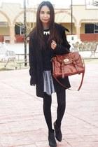 Bershka boots - Forever 21 dress - Zara blouse
