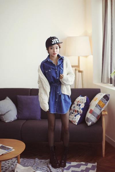sky blue denim Zara coat