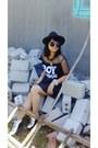 Booties-bazaar-boots-crop-top-mango-dress-vintage-zara-hat