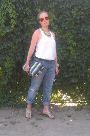 Pull and Bear jeans - Accessorize necklace - Zara top - ray-ban glasses