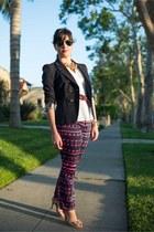 Rebecca Taylor blazer - H&M blouse - Nanette Lepore pants