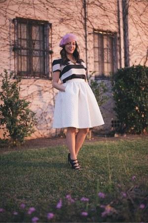 Zara top - H&M skirt - Sergio Rossi heels