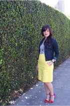 American Eagle jacket - JCrew shirt - kate spade skirt - Zara heels