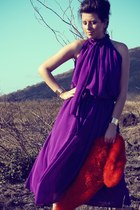 purple maxi OASAP dress
