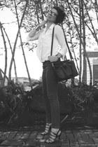 white shirt sammydress shirt - tote sammydress bag