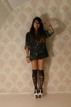 cotton USA ARMY jacket - Nelly shoes - lycra DIY tights