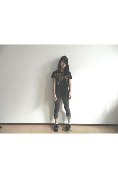 asos hat - Mango Jeans shirt
