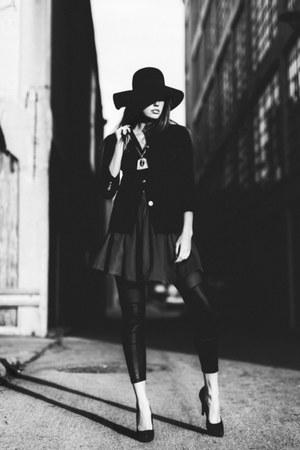 asos hat - Rumorlessthreads leggings - Ralph Lauren blazer - Zara heels