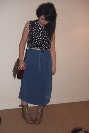 sister-vintage boots - sister-vintage bag - sister-vintage blouse - sister-vinta