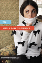 Stella McCartney-Inspired Bow Covered Turtleneck