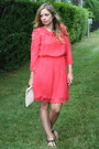 Hot-pink-french-connection-dress-ivory-marc-by-marc-jacobs-bag
