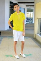 yellow Collezione C2 shirt - ivory Rockport shoes - yellow Polyester BowTie tie