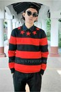 Black-banggood-hat-dark-brown-wcshades-sunglasses-red-zealotries-loafers