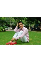red topsider shoes - red YRYS tie