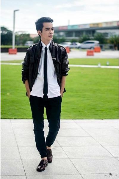 brown BangGood jacket - black BangGood sunglasses