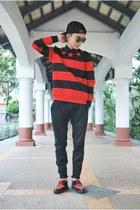 red choiescom sweatshirt - black BangGood hat - dark brown WCShades sunglasses