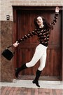Black-franco-sarto-shoes-black-h-m-sweater-brick-red-target-bag