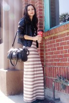 black kohls jacket - heather gray Forever 21 dress - black MMS bag