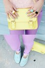 Black-thrifted-hat-light-purple-forever-21-jeans-light-yellow-bag