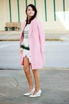 pink Oasapcom coat - aquamarine tartan PERSUNMALL sweater