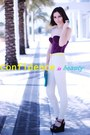 Purple-vedette-top-turquoise-blue-pieces-bag-ivory-h-m-pants