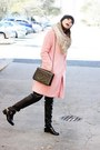 Light-pink-oasap-coat-black-choies-pants
