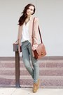 Burnt-orange-boots-tan-blazer-white-shirt-brick-red-bag-dark-khaki-pants