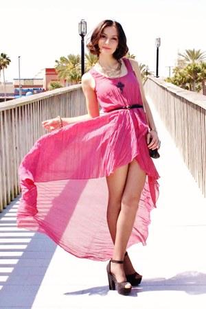 maroon berry crinkle Love dress