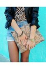 Jc-penny-earrings-forever-21-boots-diy-bag-levis-shorts-dana-buchman-top