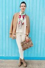 Tan-forever-21-boots-tan-h-m-blazer-crimson-forever-21-scarf