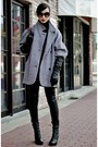 Black-leather-hm-pants-heather-gray-coat