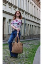 asos blouse - Mango jeans - Freud shoes - handmade purse - handmade bracelet