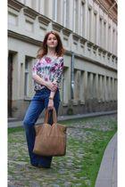 asos blouse - Mango jeans - Freud shoes - handmade purse - handmade bracelet