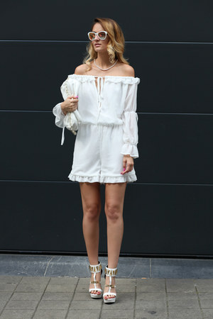zaful romper - VIKI LYNN necklace