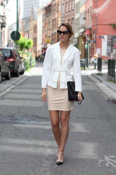 sammydress blazer - AmiClubWear dress - JollyChic bag - kate spade heels