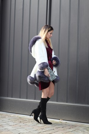 lightinthebox coat - dresslily dress - zaful bag