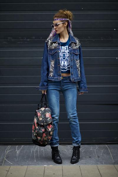 Yoins jeans - LEREN CONNOR jacket - Poppy Lovers top