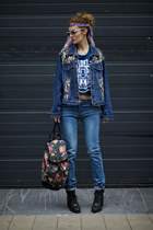 Yoins jeans - LEREN CONNOR jacket - Poppy Lovers top