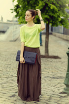 Bellast earrings - Mango skirt - Forever 21 top