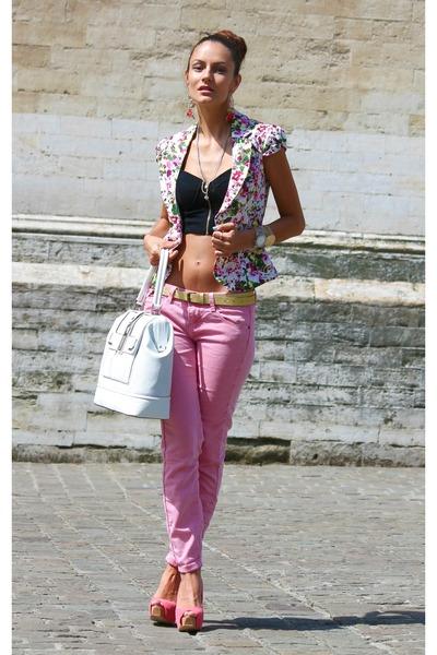 BLANCO jacket - Bershka heels