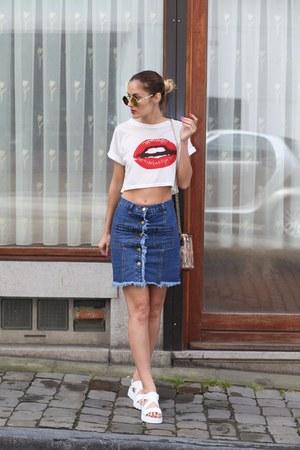 zaful bag - zaful sunglasses - zaful skirt - shein t-shirt