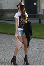 Guess-coat-bershka-shorts
