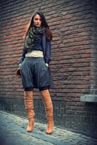 Bershka boots - liu jo coat - Zara pants
