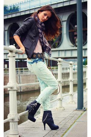 Miss Sixty boots - Bershka jeans - Mango jacket