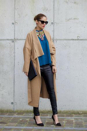 Lookbook Store coat - Chicwish sweater - Jane Stone necklace