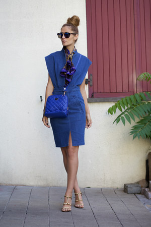 romwe dress - Vèvèlle scarf - New Dress bag - DressLink sunglasses