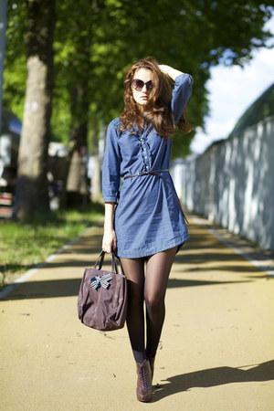 Chambray dress dress