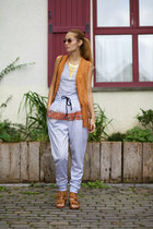 shein vest - From Brussels with Love pants